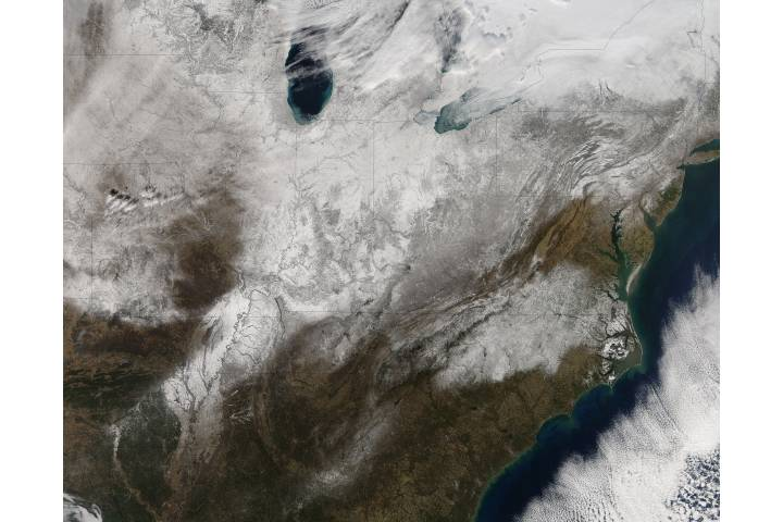 Snow across the eastern United States - selected image