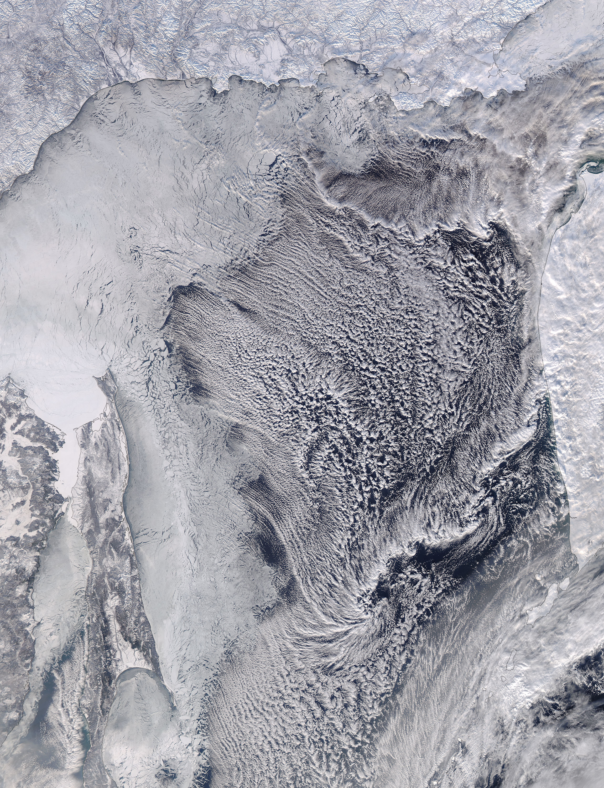 Cloud streets in the Sea of Okhotsk - related image preview