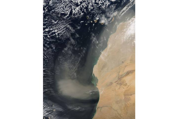 Dust storm off West Africa - selected image