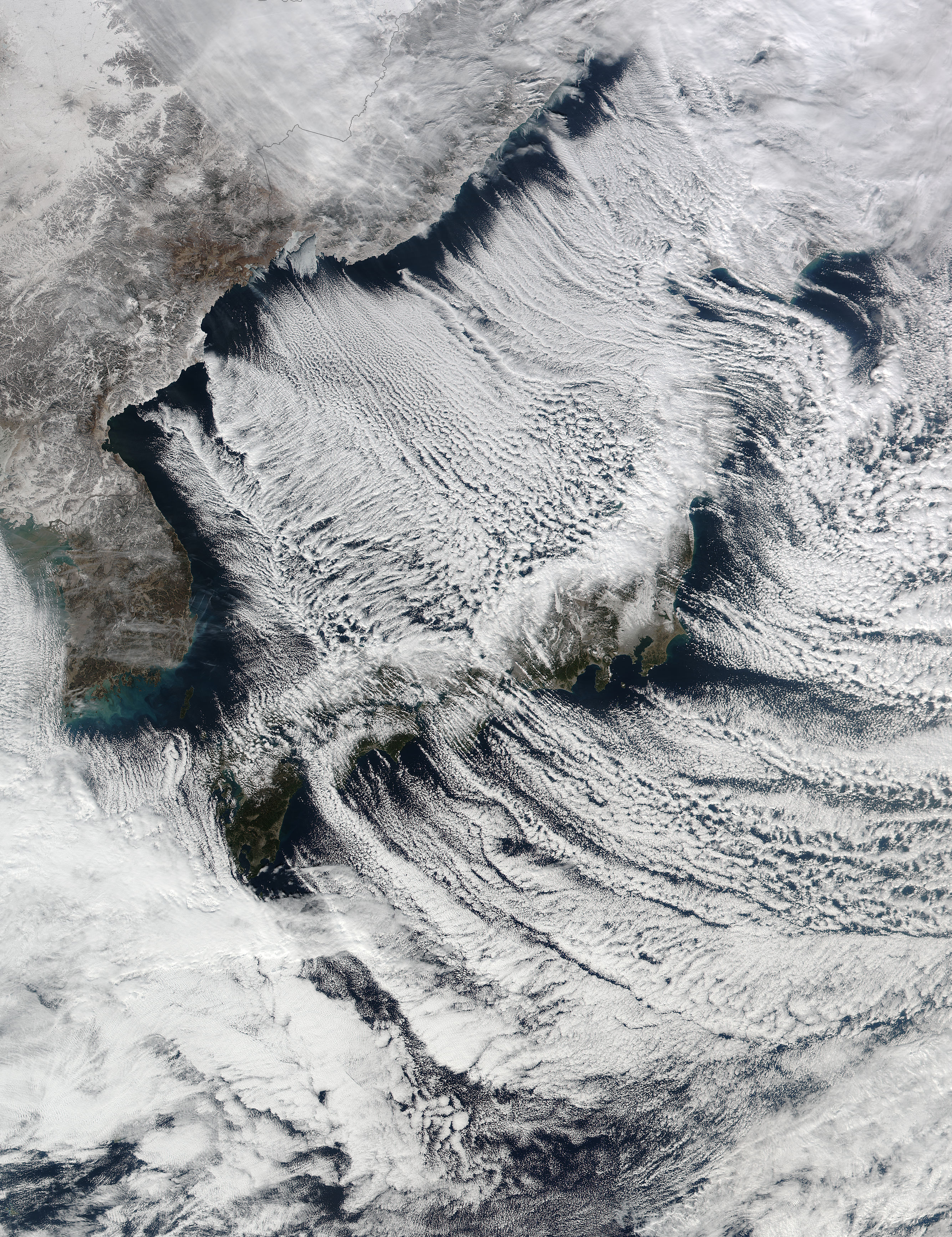 Cloud streets surrounding Japan - related image preview