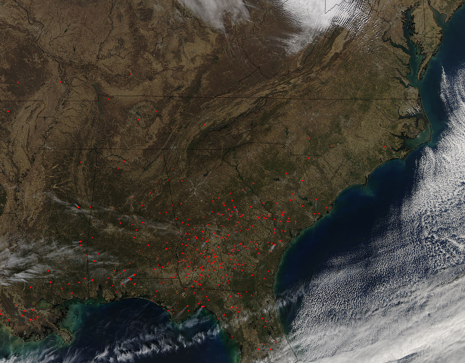 Fires in southeast United States - related image preview