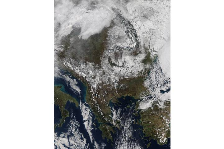 Snow across southeast Europe - selected image