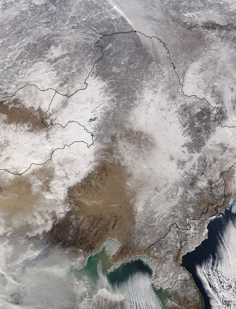 Snow in eastern Asia - related image preview