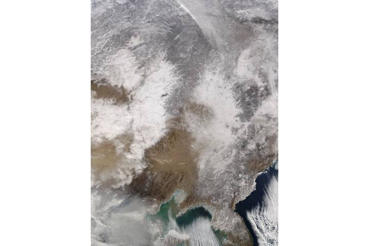 Snow in eastern Asia - selected image
