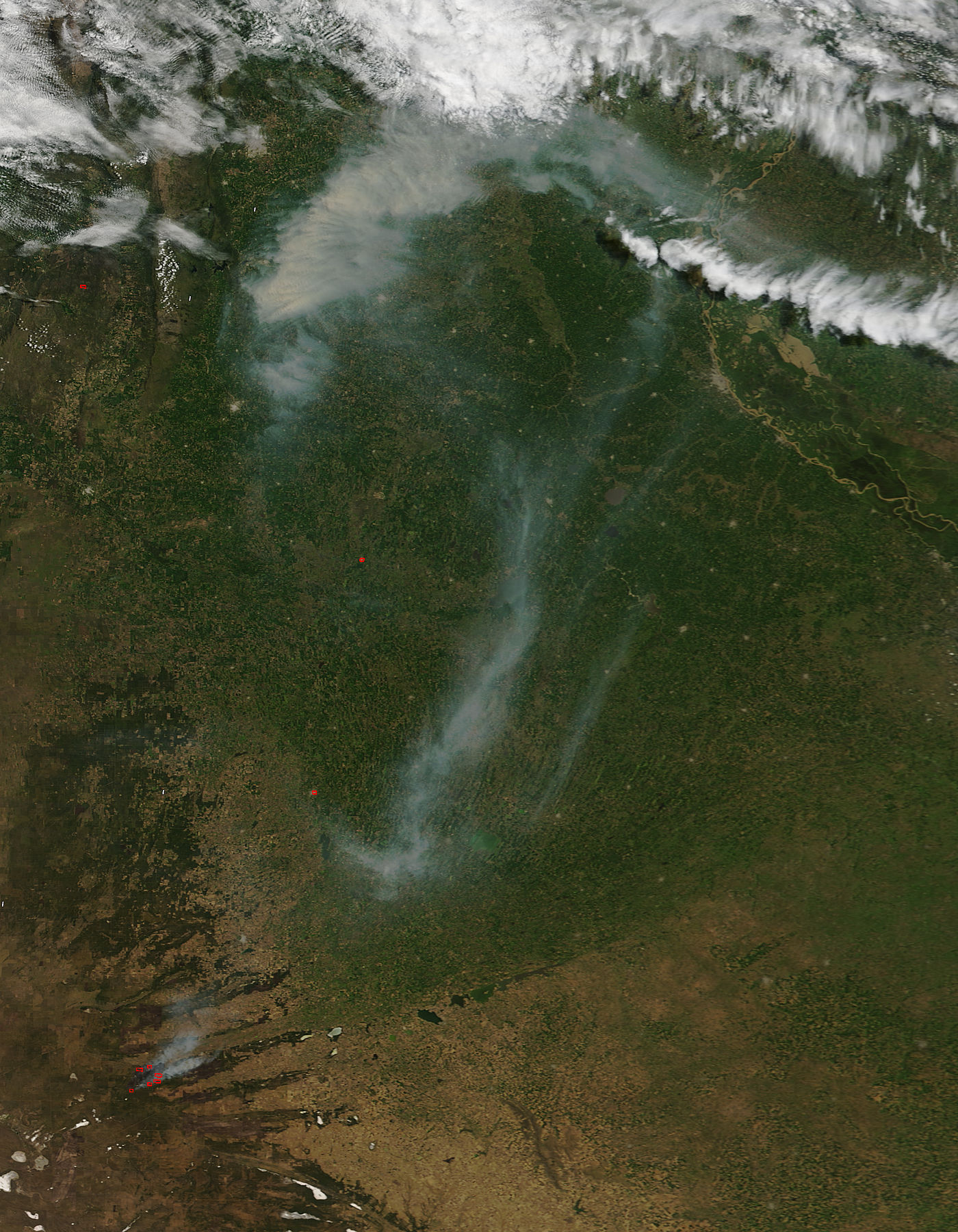 Fires and smoke in Argentina - related image preview