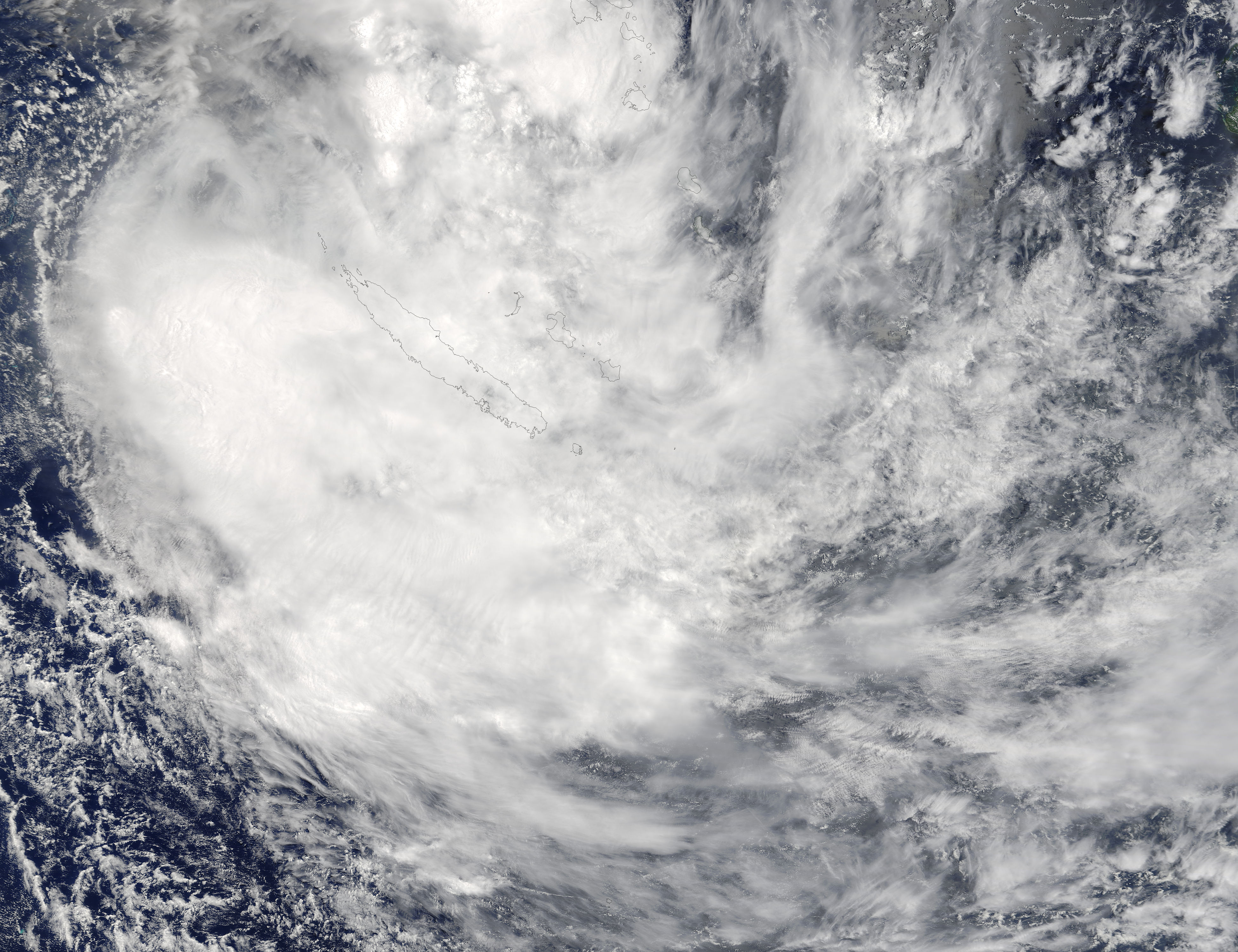 Tropical Cyclone Fehi (08S) over New Caledonia - related image preview