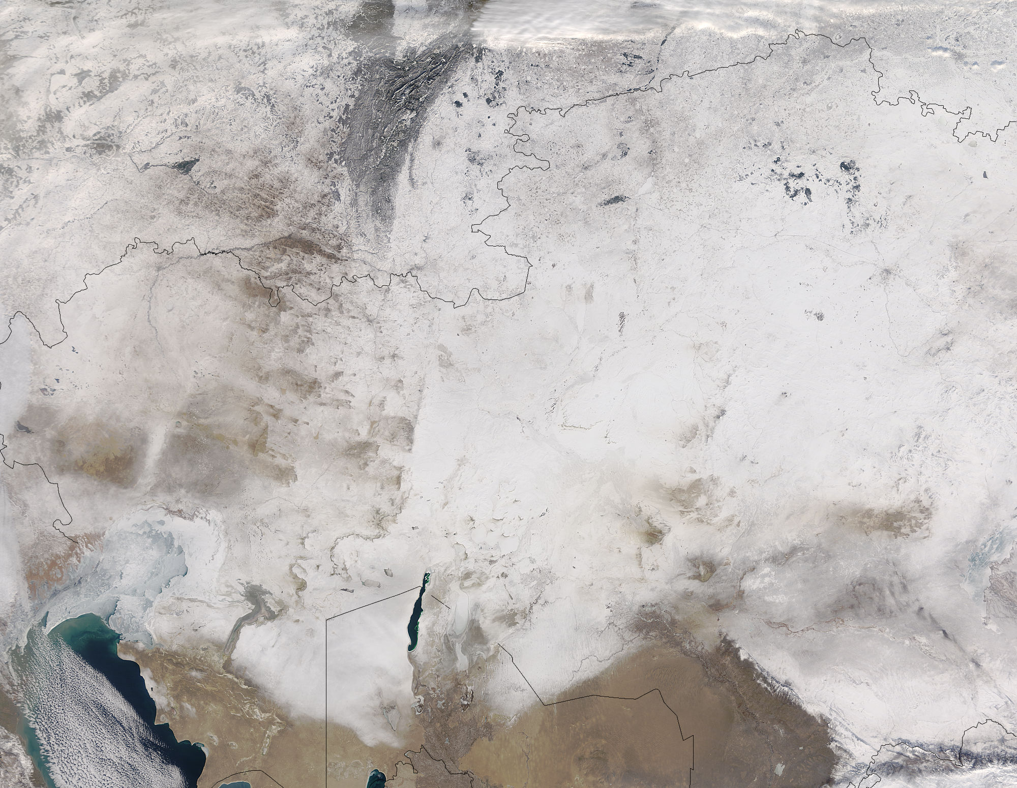 Snow across central Asia - related image preview
