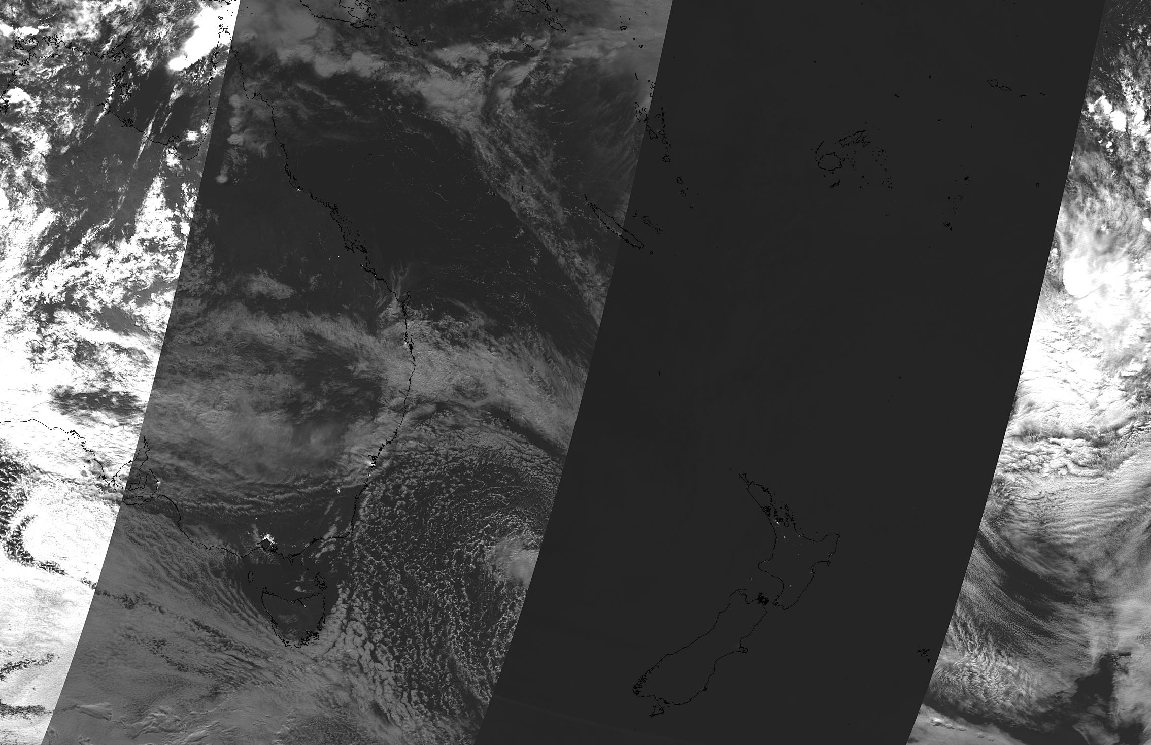 Lunar eclipse over Australia and New Zealand (Day/Night Band) - related image preview