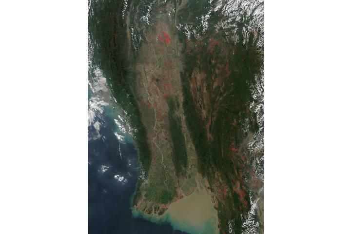 Fires in Myanmar - selected image