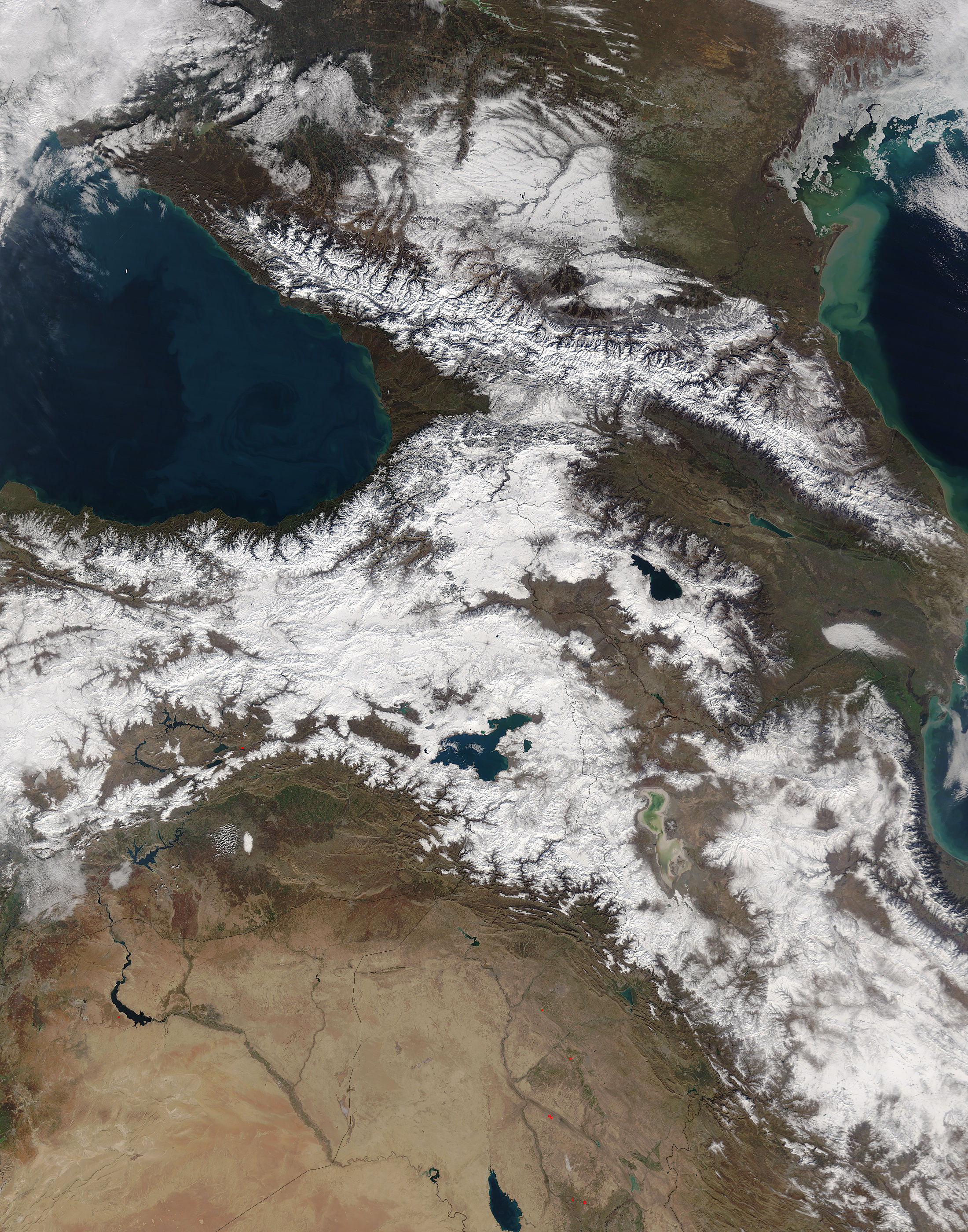 Snow in the Caucasus Mountains - related image preview