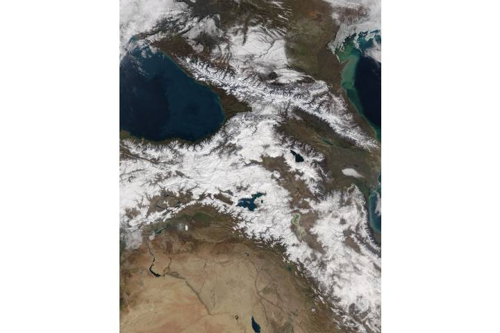 Snow in the Caucasus Mountains - selected image