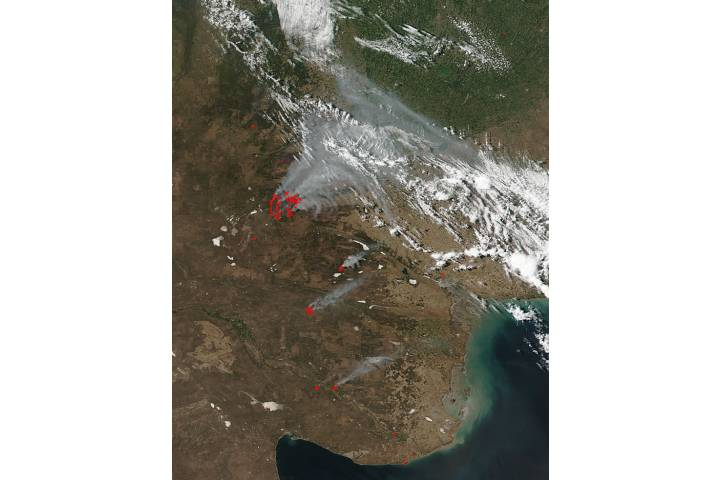Fires in central Argentina - selected image
