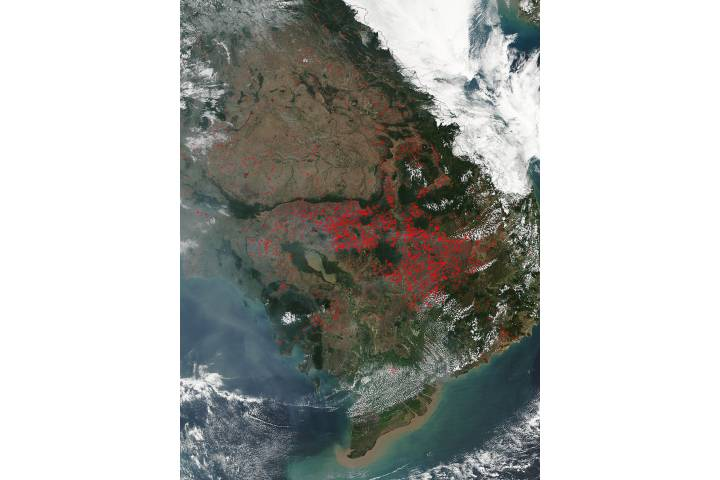 Fires in Indochina - selected image