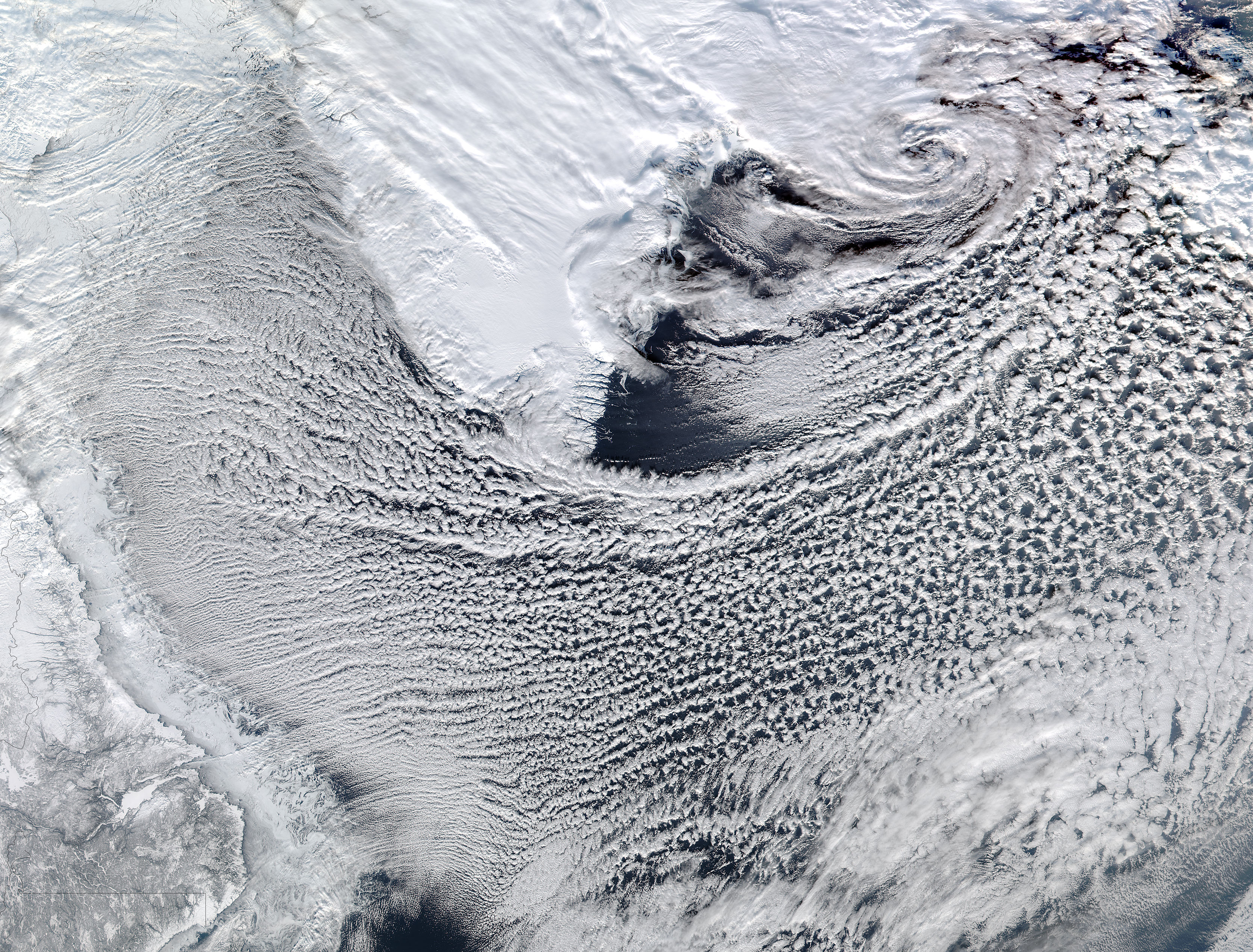 Cloud streets in the Labrador Sea - related image preview