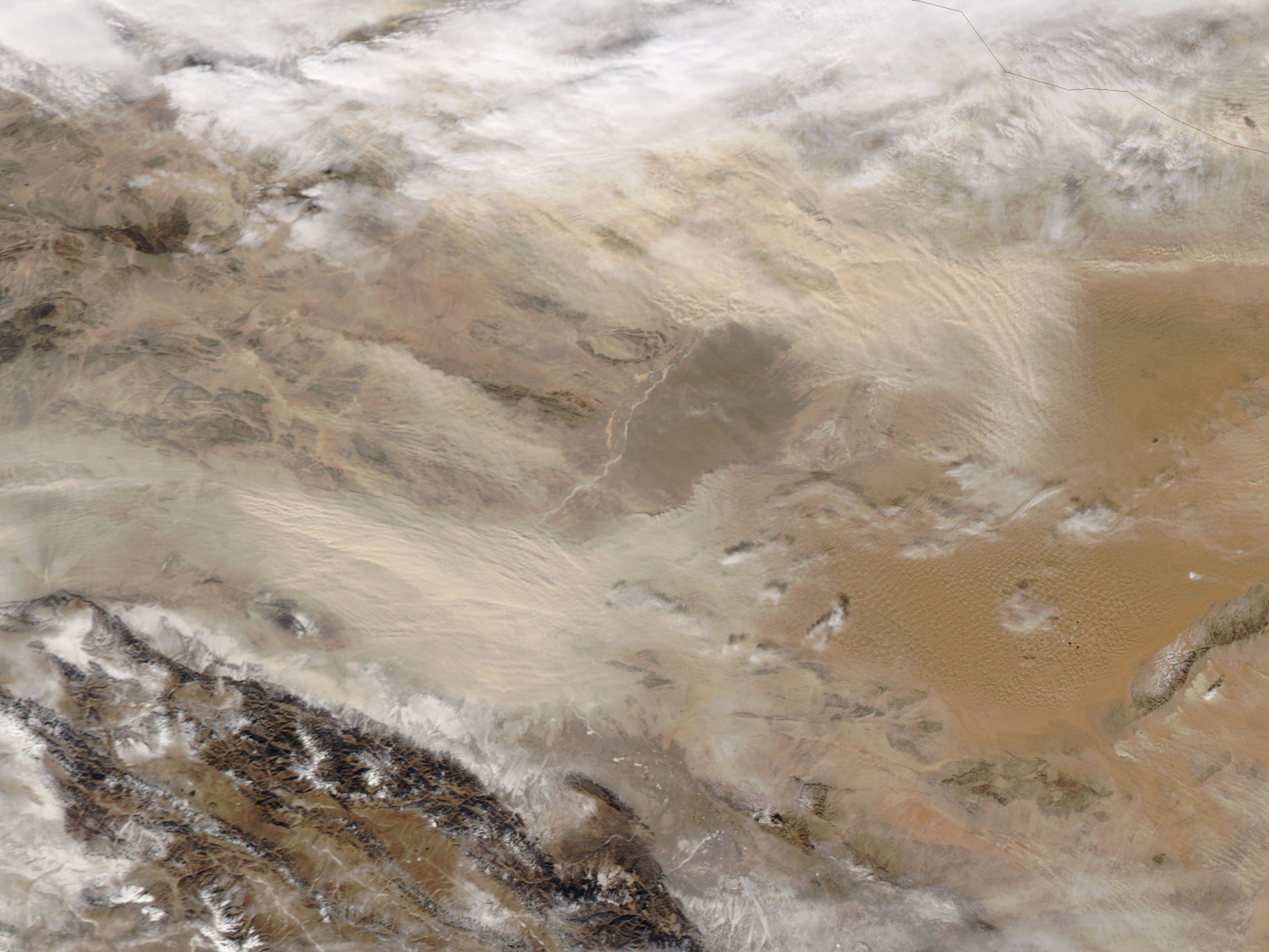 Dust storms in the Gobi Desert - related image preview