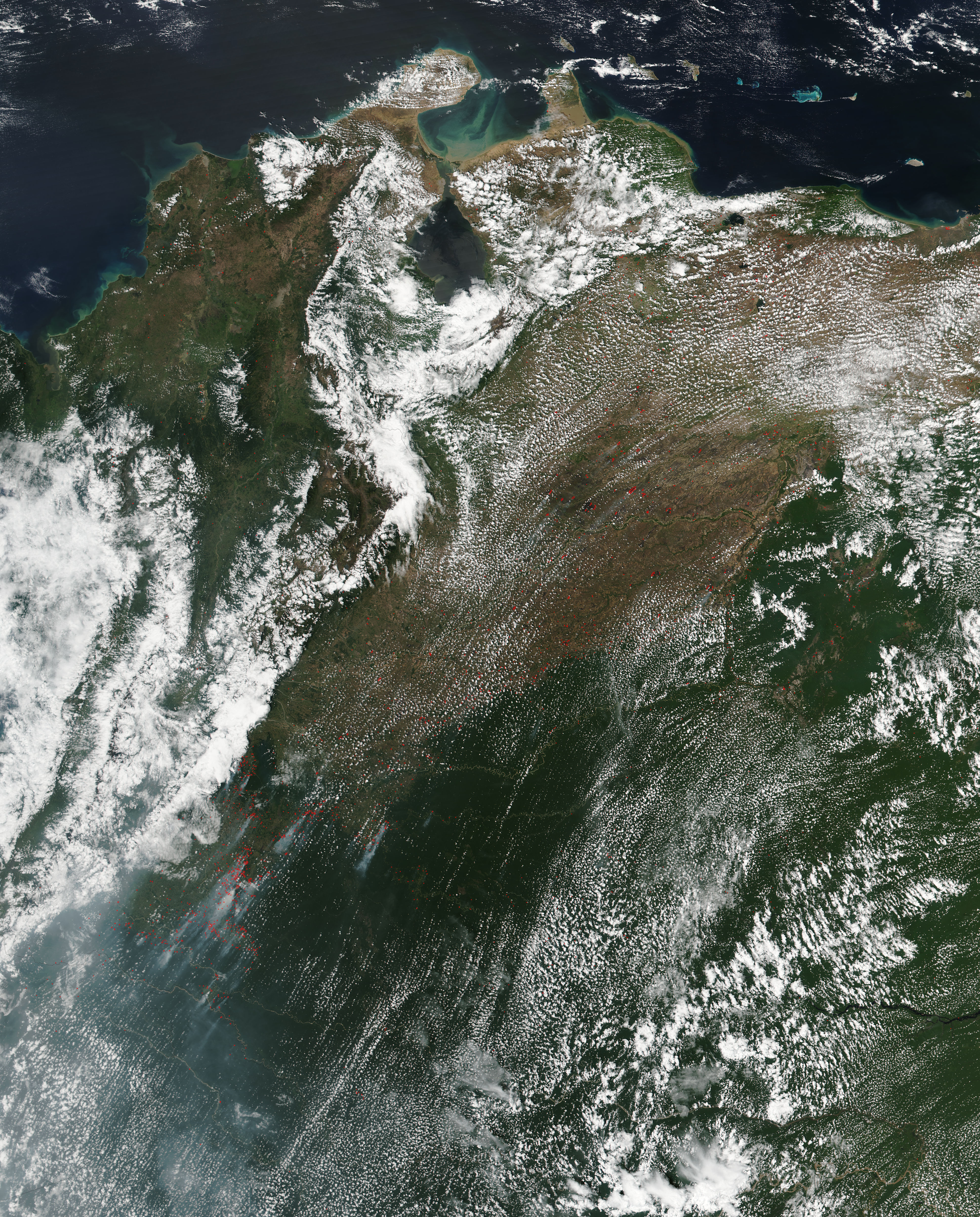 Fires in northwest South America - related image preview