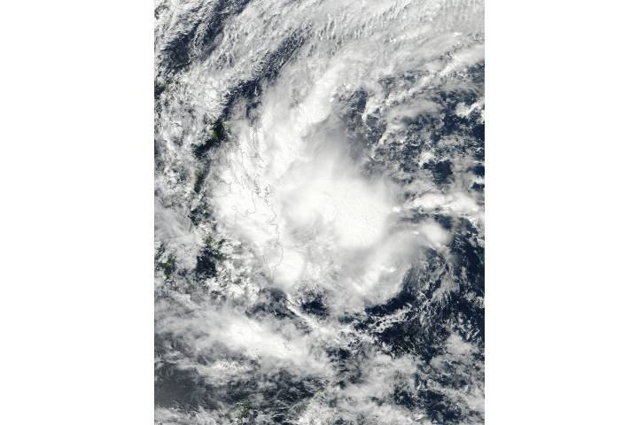 Tropical Storm Sanba (02W) over the Philippines - selected image