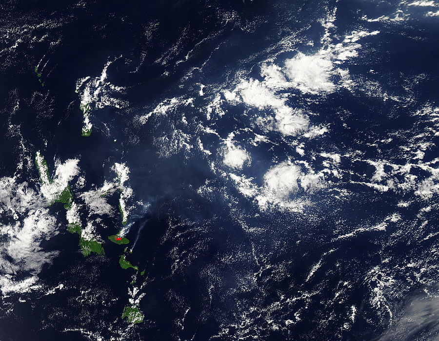 Vog from Ambrym and Lopevi volcanoes, Vanuatu - related image preview