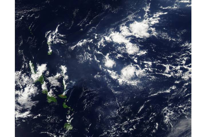 Vog from Ambrym and Lopevi volcanoes, Vanuatu - selected image