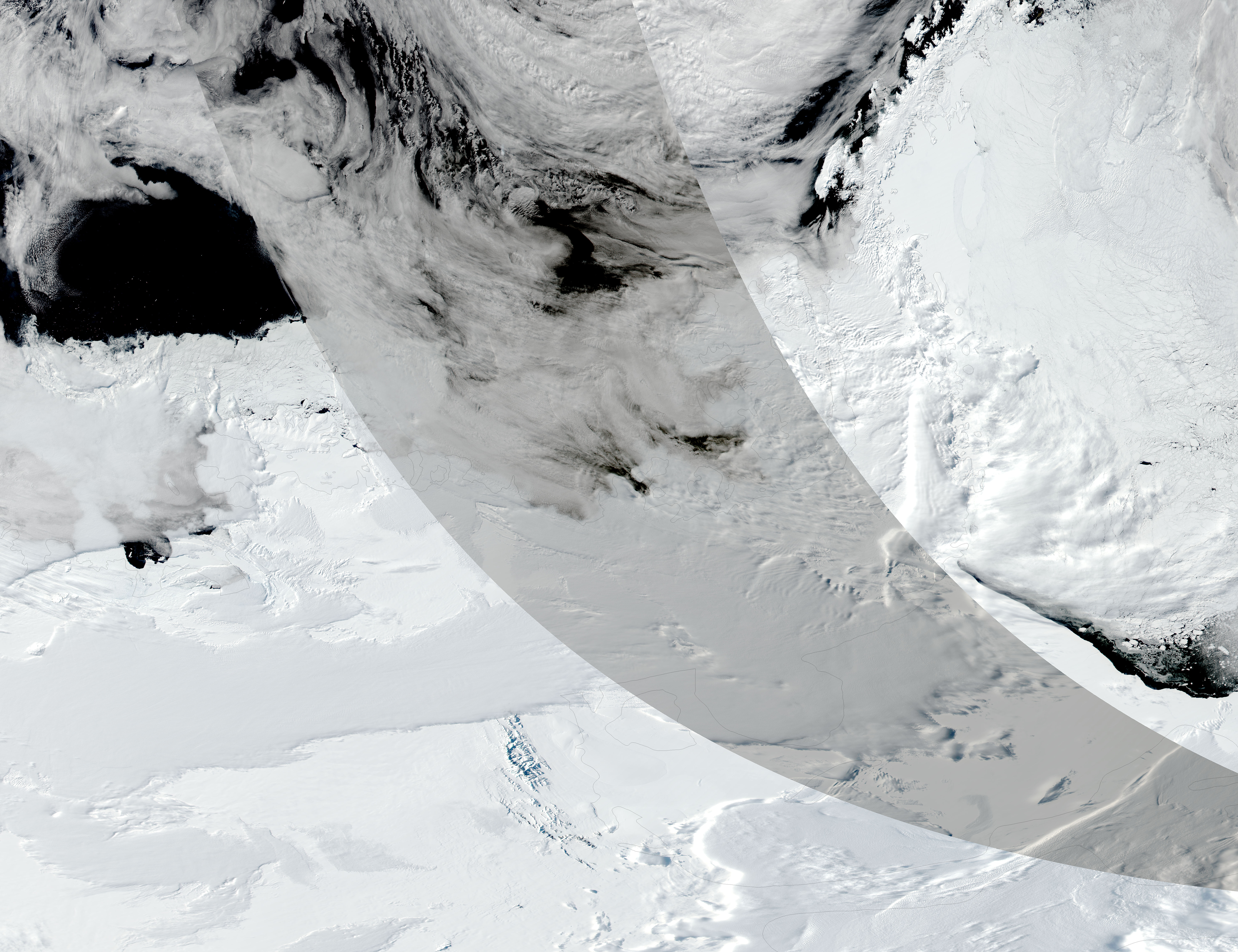 Partial solar eclipse over Antarctica - related image preview