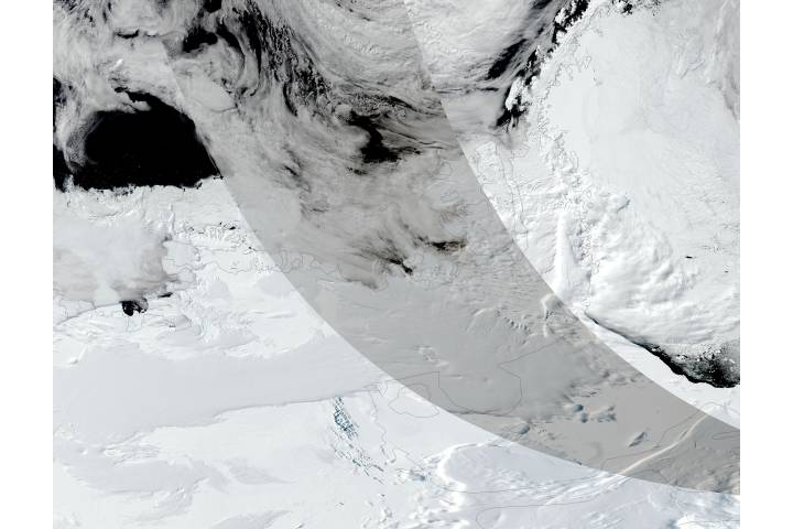 Partial solar eclipse over Antarctica - selected image