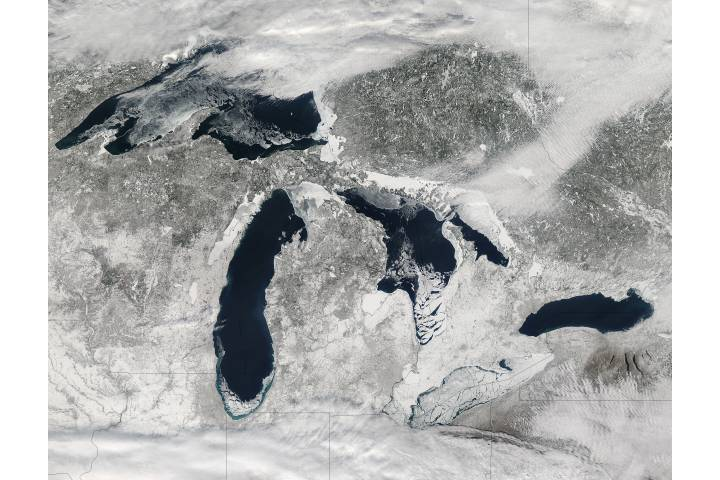 Ice on the Great Lakes (true color) - selected image