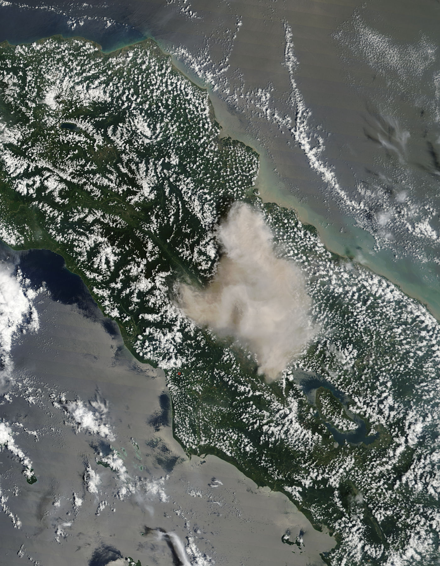 Plume from Sinabung, Sumatra, Indonesia (morning overpass) - related image preview
