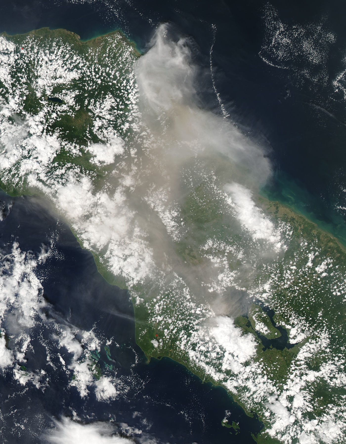 Plume from Sinabung, Sumatra, Indonesia (afternoon overpass) - related image preview