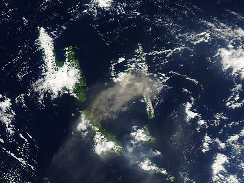 Plume from Aoba volcano, Vanuatu (afternoon overpass) - related image preview