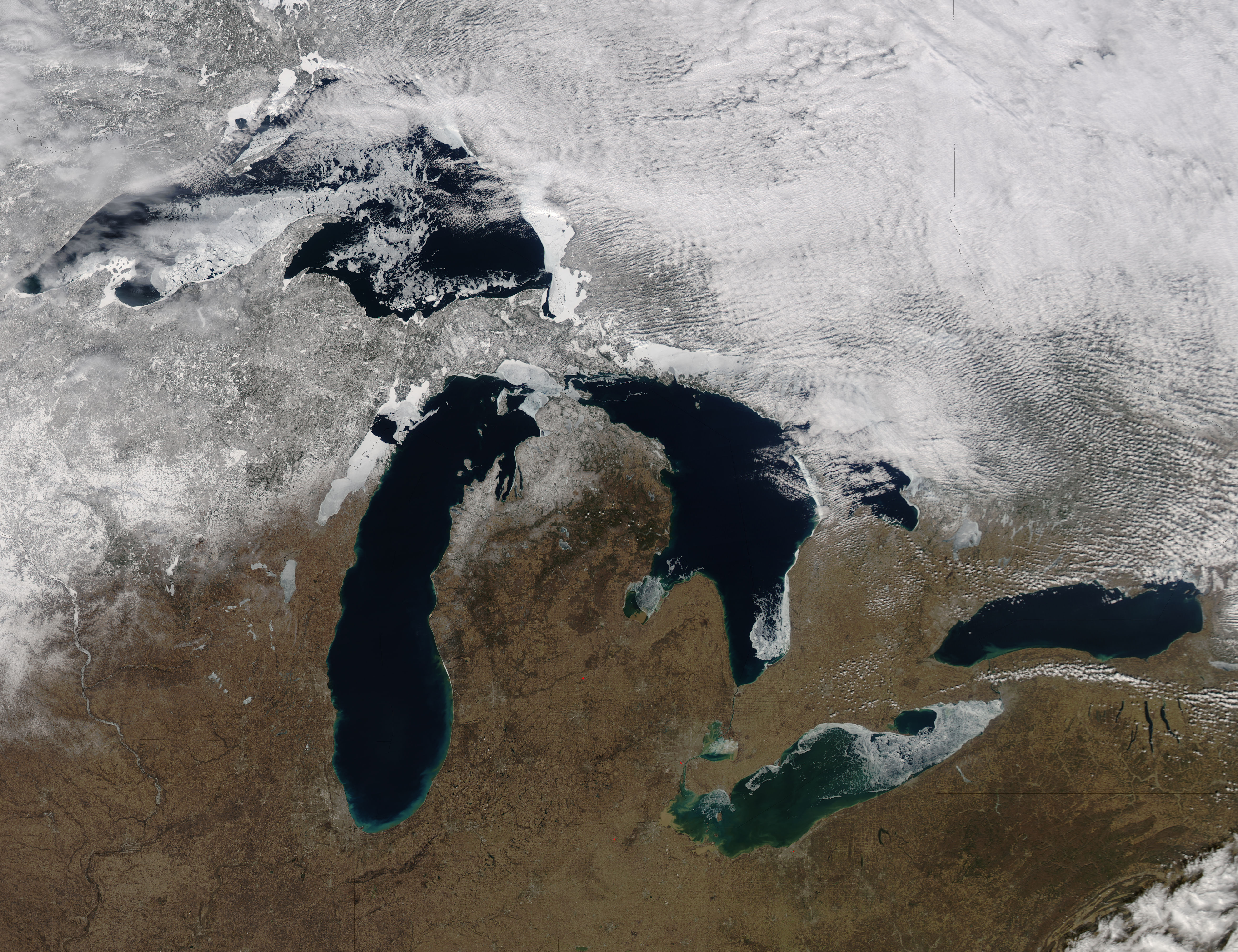 Ice on the Great Lakes (true color) - related image preview