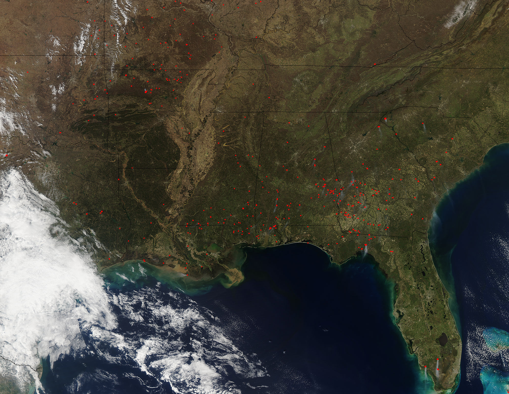 Fires across southeastern United States - related image preview