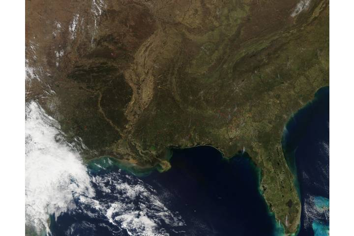 Fires across southeastern United States - selected image
