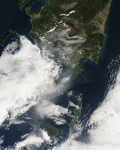 Plume from Kirishima, southern Japan - related image preview