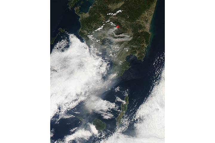 Plume from Kirishima, southern Japan - selected image
