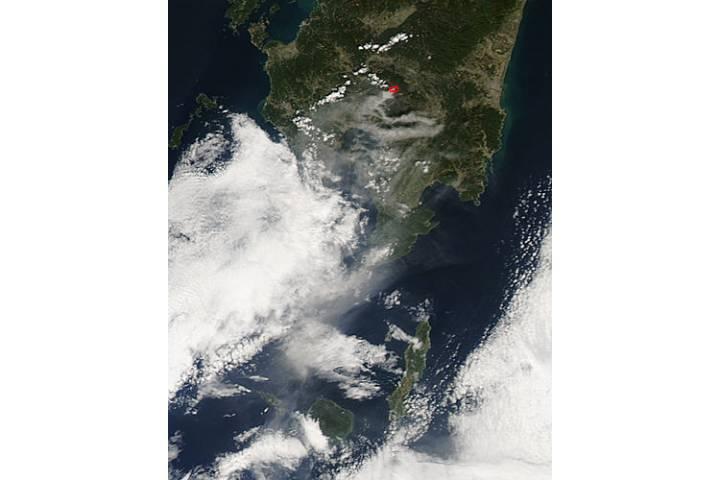 Plume from Kirishima, southern Japan - selected image