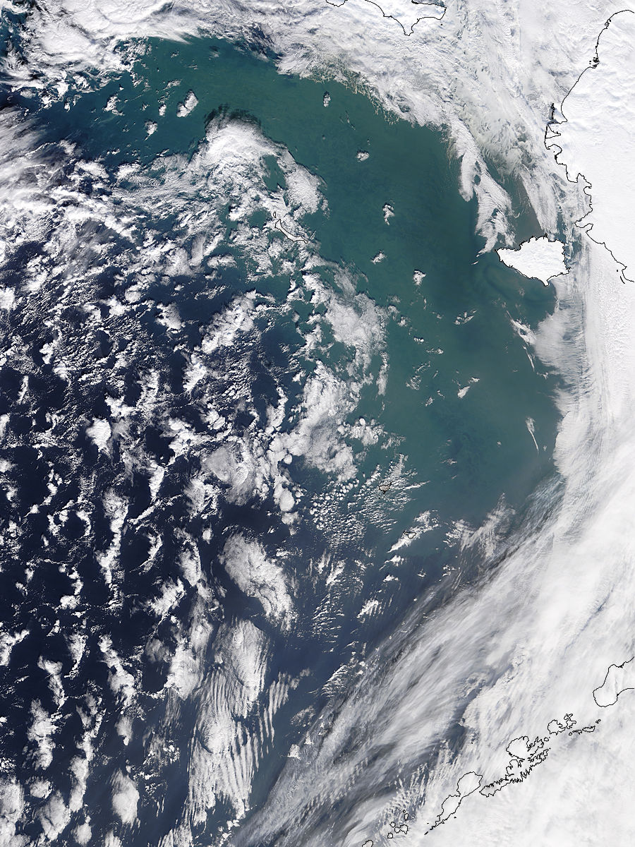 Possible re-suspended sediment in the Bering Sea - related image preview