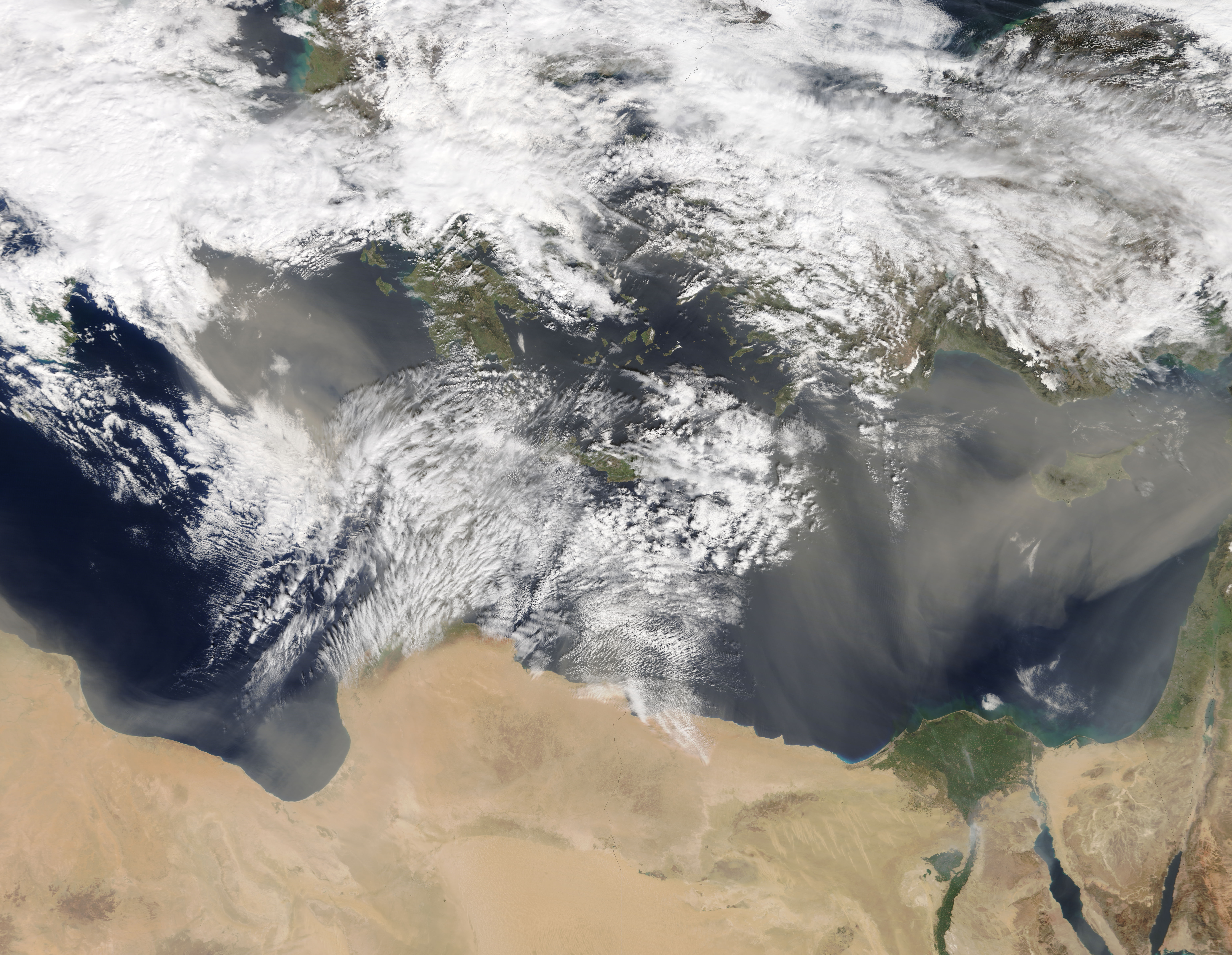 Dust storms across the eastern Mediterranean Sea - related image preview