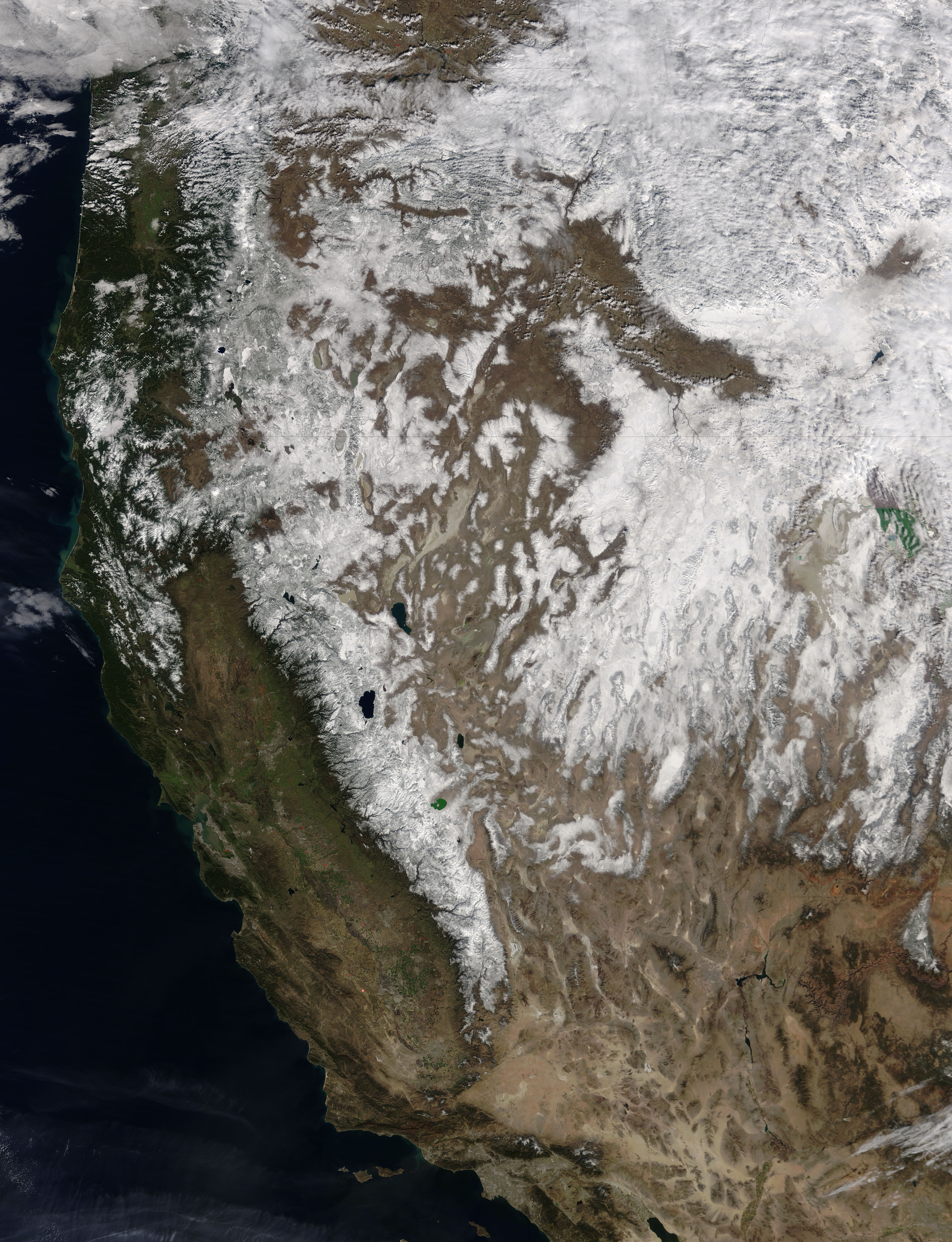 Snow across the western United States - related image preview