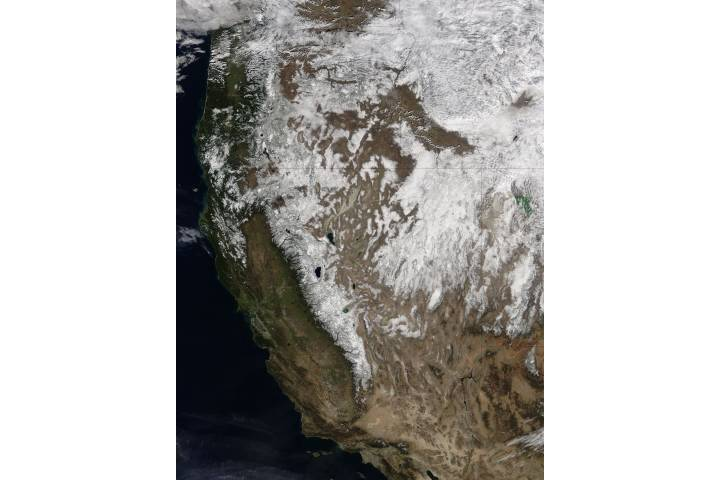 Snow across the western United States - selected image