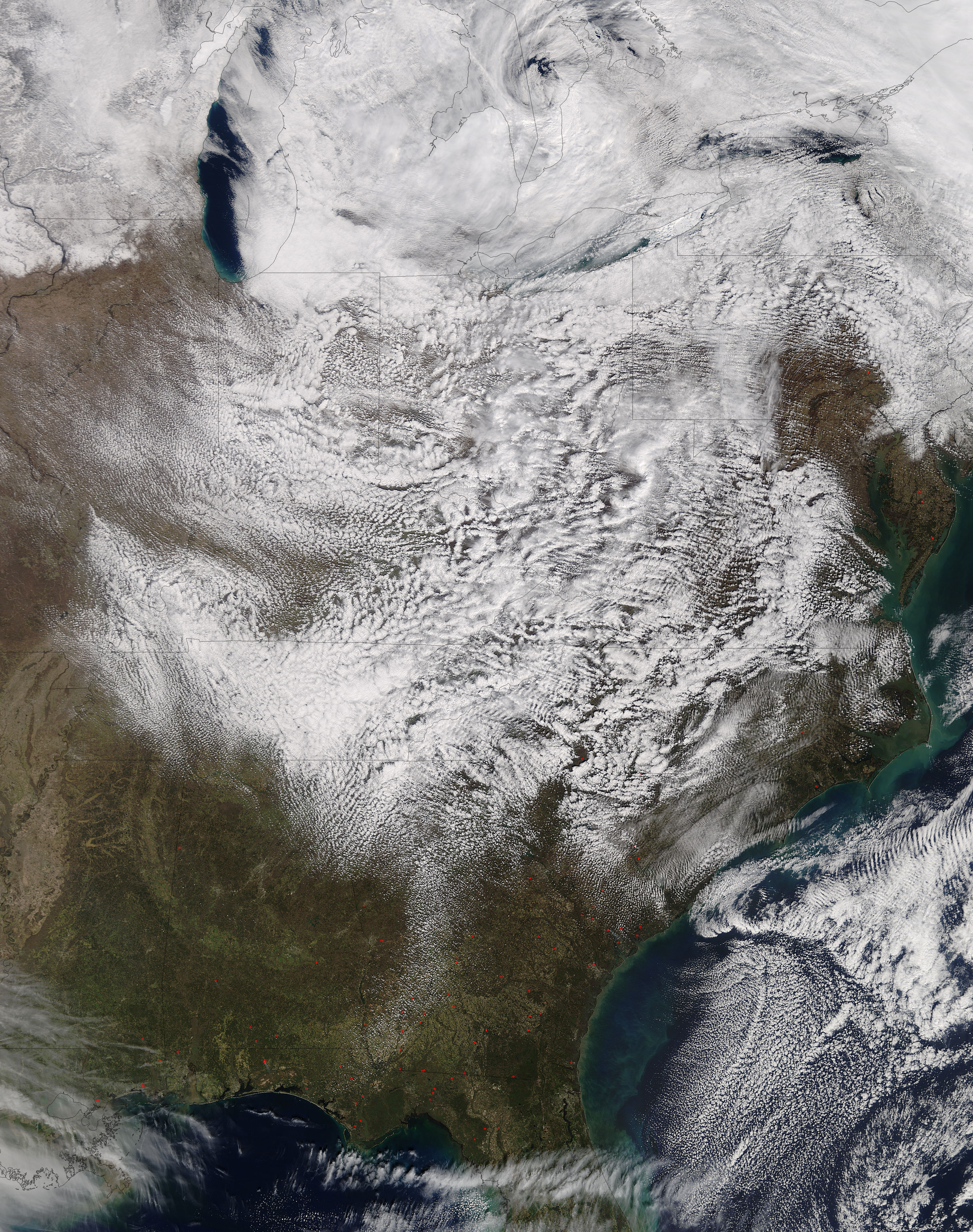 Cloud formations over the eastern United States - related image preview