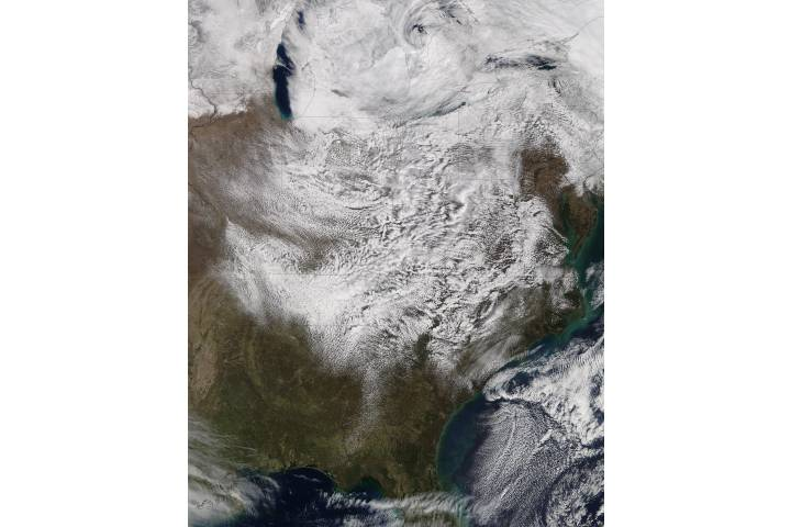 Cloud formations over the eastern United States - selected image