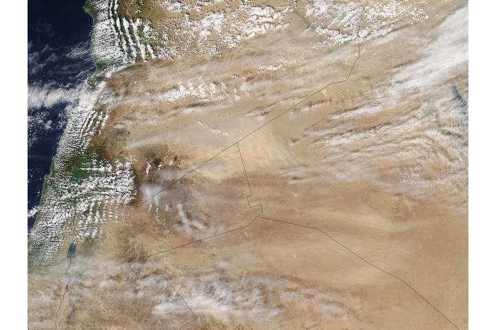 Dust storms in the Middle East - selected child image