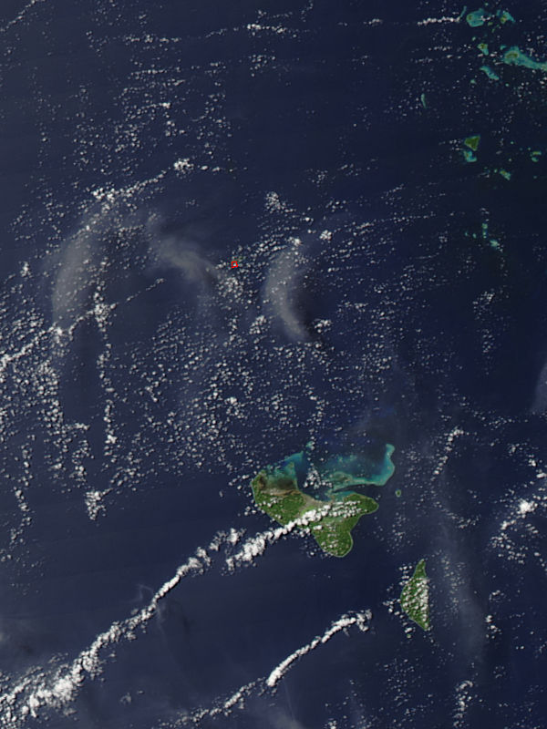 Activity at Hunga Tonga-Hunga Ha'apai in Tonga, South Pacific Ocean - related image preview