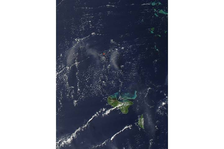 Activity at Hunga Tonga-Hunga Ha'apai in Tonga, South Pacific Ocean - selected image