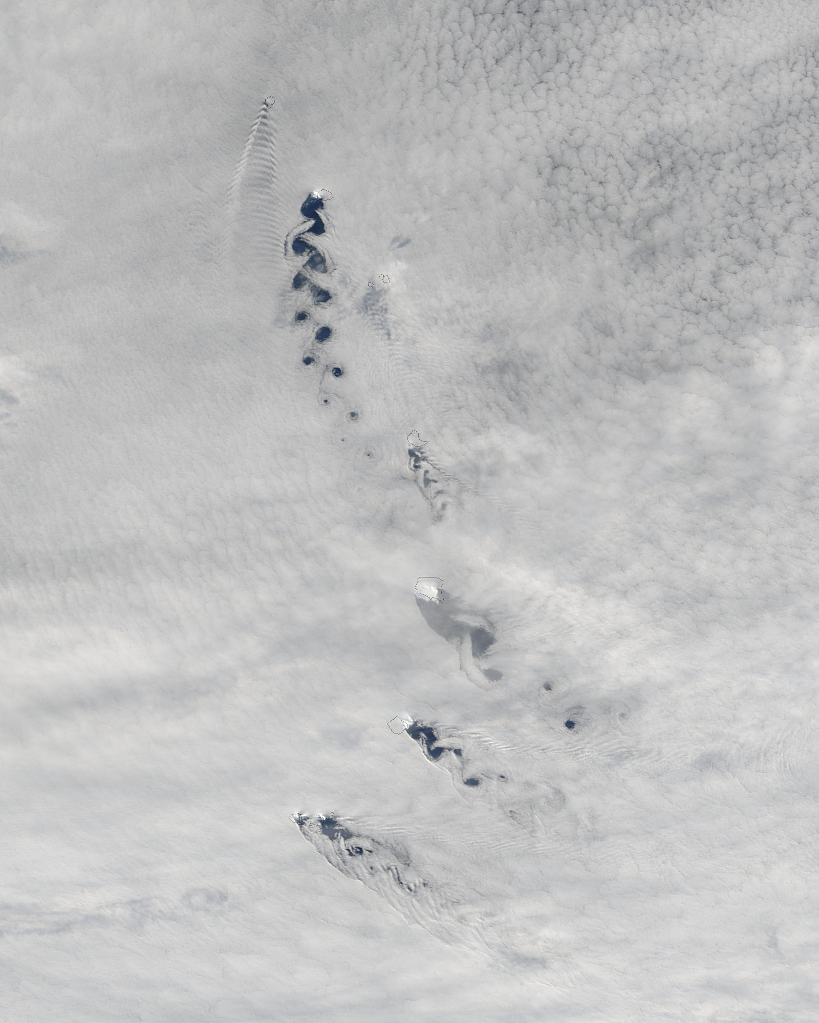 Cloud vortices off South Sandwich Islands, South Atlantic Ocean - related image preview