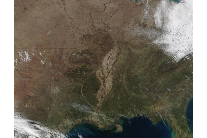 Fires in southeastern and central United States - selected image