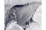 Cloud streets in the Barents Sea