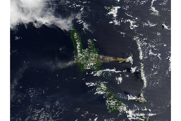 Plume from Aoba volcano, Vanuatu (morning overpass) - selected image