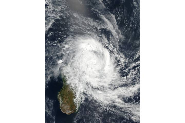 Tropical Cyclone Eliakim (14S) over Madagascar - selected image