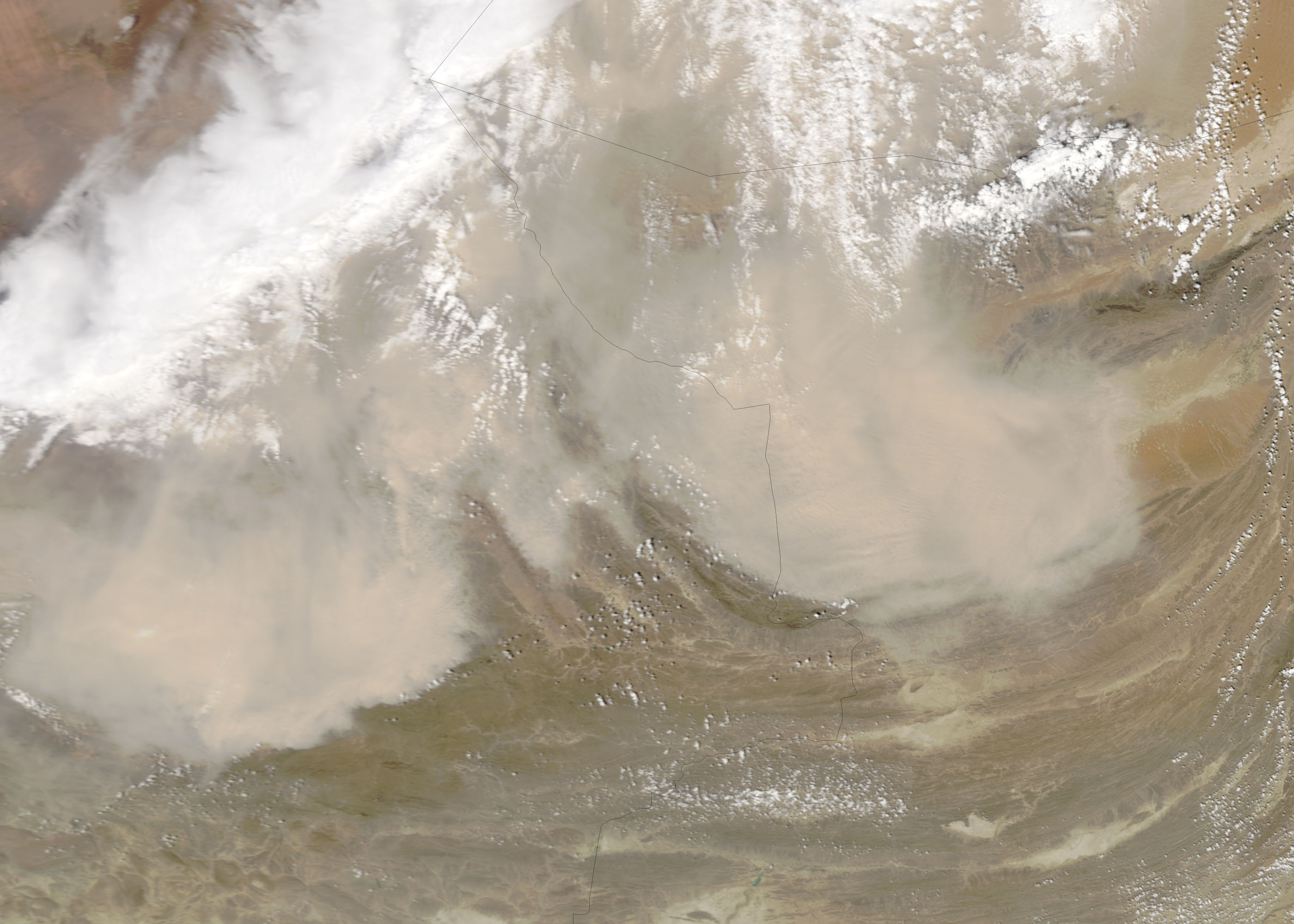 Dust storms in Iran and Pakistan - related image preview